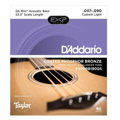 מיתרים לגיטרה בס אקוסטית דדריו - Daddario EXPPBB190GS Acoustic - 45-130