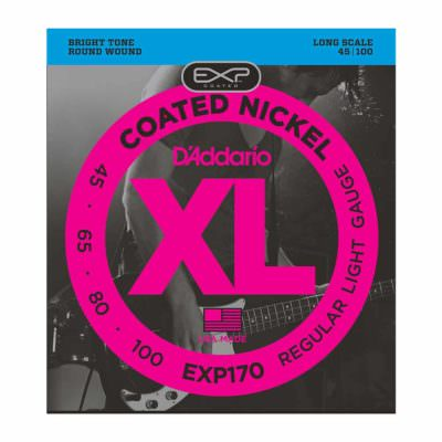 מיתרים לגיטרה בס דדריו - 45-100 - Daddario EXP170 Coated Nickel Bass Long Scale