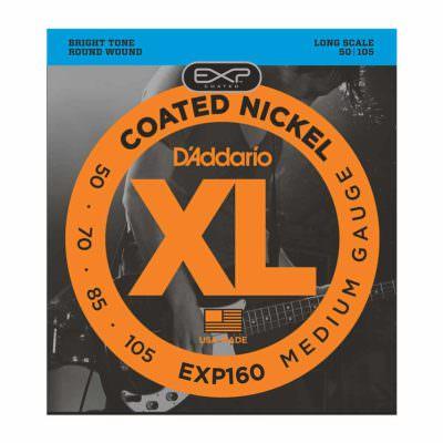 מיתרים לגיטרה בס דדריו - 50-105 - Daddario EXP160 Coated Nickel Bass Long Scale
