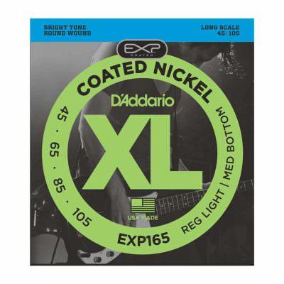 מיתרים לגיטרה בס דדריו - 45-105 - Daddario EXP165 Coated Nickel Bass Long Scale