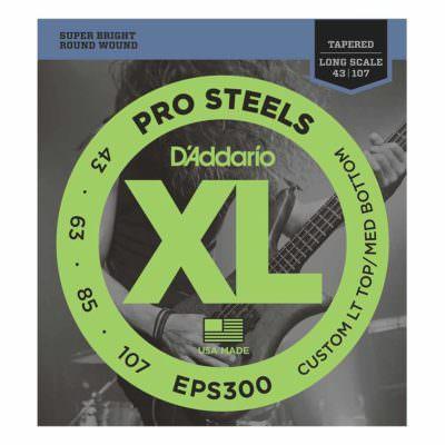 מיתרים לגיטרה בס דדריו - 43-107 - Daddario EPS300 Prosteels Bass Tapered Long Scale