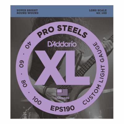 מיתרים לגיטרה בס דדריו - 40-100 - Daddario EPS190 Prosteels Bass Long Scale