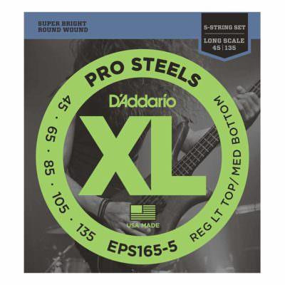 מיתרים לגיטרה 5 מיתרים בס דדריו - 45-135 - Daddario EPS165-5 Prosteels Bass Long Scale 5String