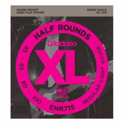 מיתרים לגיטרה בס דדריו - 45-100 - ENR71S Half Rounds Bass Short Scale