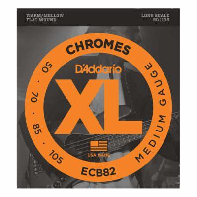 מיתרים לגיטרה בס דדריו - 50-105 - Daddario ECB82 Chrome Bass Long Scale