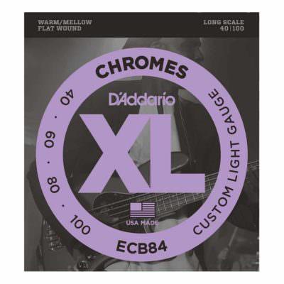 מיתרים לגיטרה בס דדריו - 40-100 - Daddario ECB84 Chrome Bass Long Scale