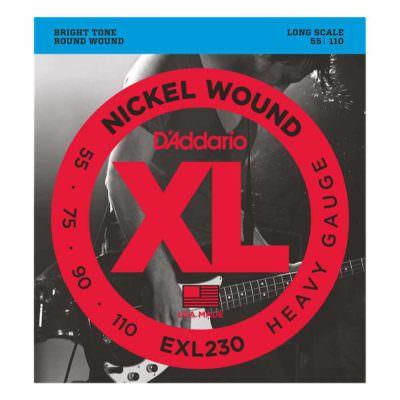 מיתרים לגיטרה בס דדריו - 55-110 - Daddario EXL230 Nickel Wound Bass Long Scale
