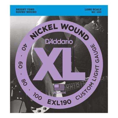 מיתרים לגיטרה בס דדריו - 40-100 - Daddario EXL190 Nickel Wound Bass Long Scale