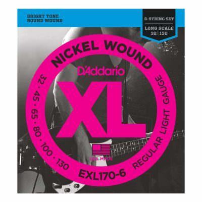 מיתרים לגיטרה בס 6 מיתרים דדריו - 32-130 - Daddario EXL170-6 Nickel Wound Bass Long Scale 5String