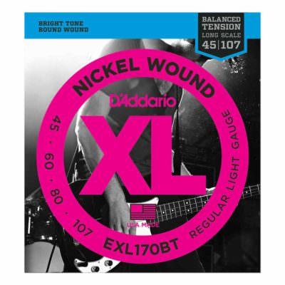 מיתרים לגיטרה בס דדריו - 45-107 - Daddario EXL170BT Nickel Wound Balanced Tension