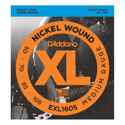 מיתרים לגיטרה בס דדריו - 50-105 - Daddario EXL160S Nickel Wound Bass Short Scale