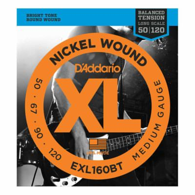 מיתרים לגיטרה בס דדריו - 50-105 - Daddario EXL160BT Nickel Wound Balanced Tension