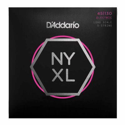 מיתרים לגיטרה בס 5 מיתרים דדריו - 45-130 - Daddario NYXL45130 Set Long Scale 5String