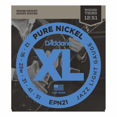 מיתרים לגיטרה חשמלית דדריו - 12-51 - Daddario EPN21 Pure Nickel
