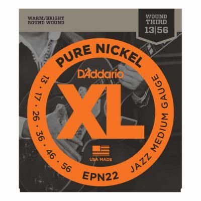 מיתרים לגיטרה חשמלית דדריו - 13-56 - Daddario EPN22 Pure Nickel