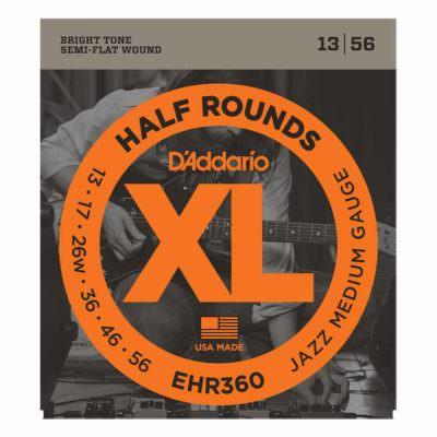 מיתרים לגיטרה חשמלית דדריו - 13-56 - Daddario EHR360 Half Rounds