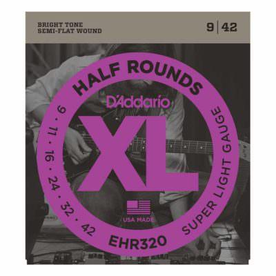 מיתרים לגיטרה חשמלית דדריו - 9-42 - Daddario EHR320 Half Rounds