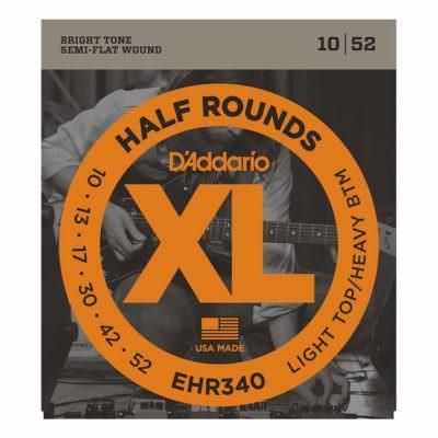 מיתרים לגיטרה חשמלית דדריו - 10-52 - Daddario EHR340 Half Rounds