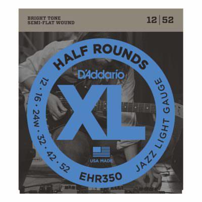 מיתרים לגיטרה חשמלית דדריו - 12-52 - Daddario EHR350 Half Rounds