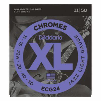 מיתרים לגיטרה חשמלית דדריו - 11-50 - Daddario ECG24 Chrome Flat Wound