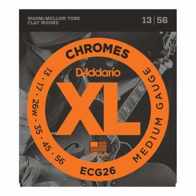 מיתרים לגיטרה חשמלית דדריו - 13-56 - Daddario ECG26 Chrome Flat Wound