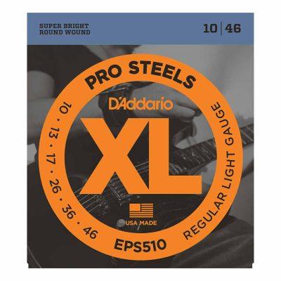 מיתרים לגיטרה חשמלית דדריו - 10-46 - Daddario EPS510 Pro Steels