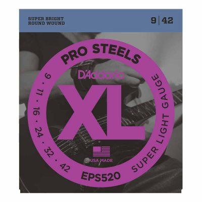 מיתרים לגיטרה חשמלית דדריו - 9-42 - Daddario EPS520 Pro Steels