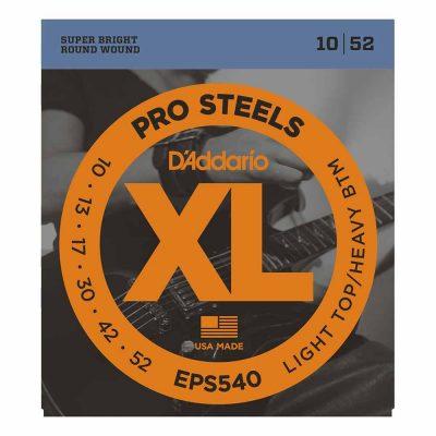 מיתרים לגיטרה חשמלית דדריו - 10-52 - Daddario EPS540 Pro Steels