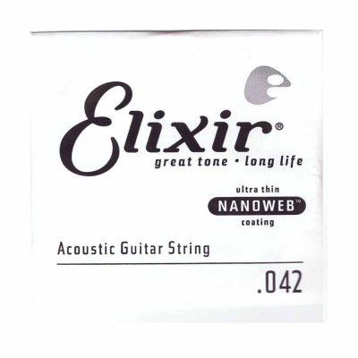מיתר בודד לגיטרה אקוסטית אליקסיר - Elixir Nanoweb Single - 042