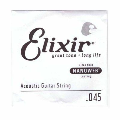 מיתר בודד לגיטרה אקוסטית אליקסיר - Elixir Nanoweb Single - 045