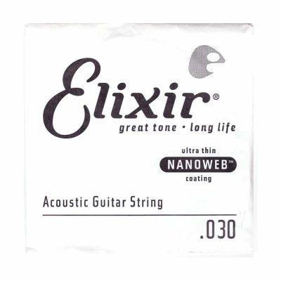 מיתר בודד לגיטרה אקוסטית אליקסיר - Elixir Nanoweb Single - 030
