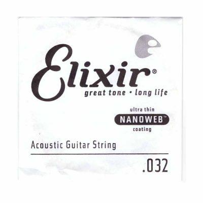 מיתר בודד לגיטרה אקוסטית אליקסיר - Elixir Nanoweb Single - 032