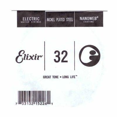 מיתר בודד לגיטרה חשמלית אליקסיר - Elixir Plain Steel Single - 032
