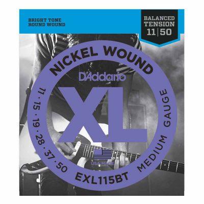 מיתרים לגיטרה חשמלית דדריו - 11-50 - Daddario EXL115BT Nickel Wound