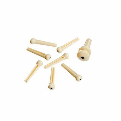 פינים פלסטיק לבן לגיטרה אקוסטית דדריו - Daddario Planet Waves White Plastic Bridge Pins with End Pin Set