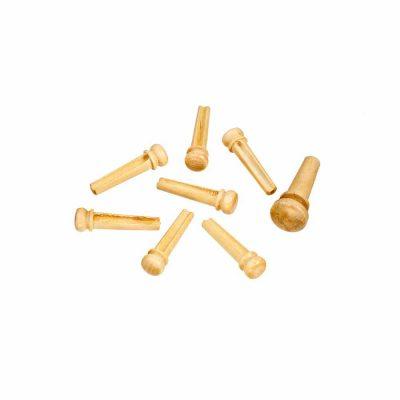 פינים מעץ לגיטרה אקוסטית דדריו - Daddario Planet Waves Boxwood Bridge Pins with End Pin Set