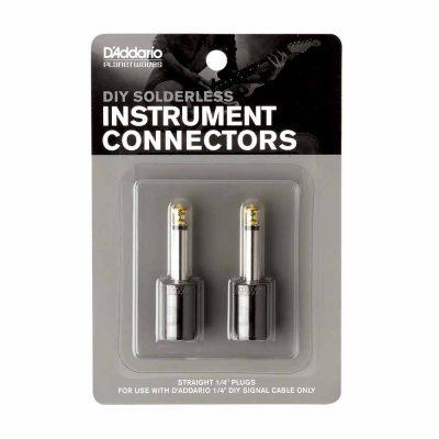 שני מחברי PL ללא צורך בהלחמה דדריו - Daddario Planet Waves PW-GP-2 Instrument Connectors