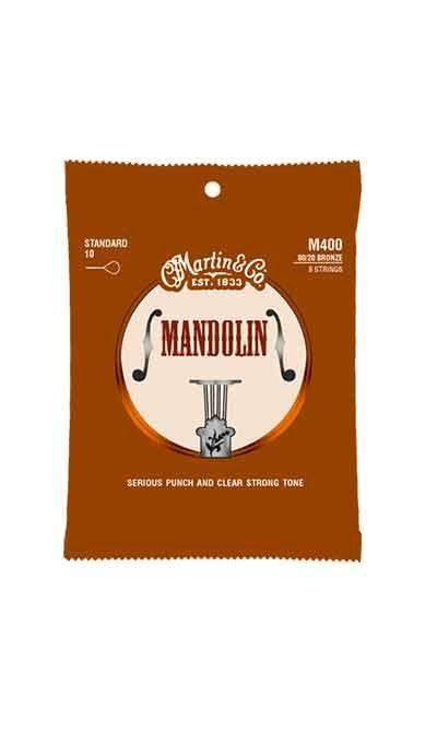 מיתרים למנדולינה מרטין - 10-34 - Martin M400 80/20 Mandolin Strings Standard